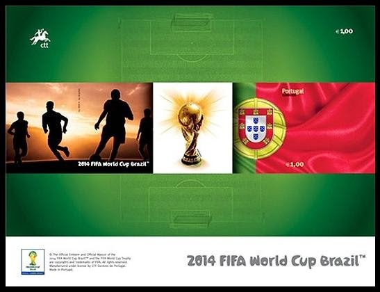 Timbres (Portugal) - Coupe du Monde de Football 2014 Porto012