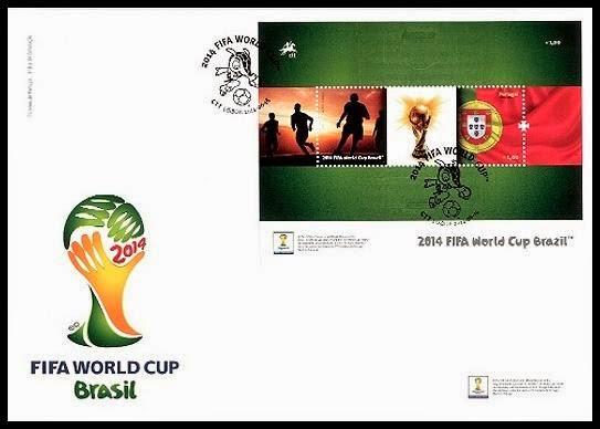 Timbres (Portugal) - Coupe du Monde de Football 2014 Porto013