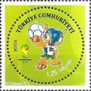 Timbres (Turquie) - Coupe du Monde de Football 2014 Tu0110