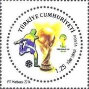 Timbres (Turquie) - Coupe du Monde de Football 2014 Tu0210