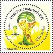 Timbres (Turquie) - Coupe du Monde de Football 2014 Tu0310