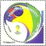 Timbres (Turquie) - Coupe du Monde de Football 2014 Tu0410