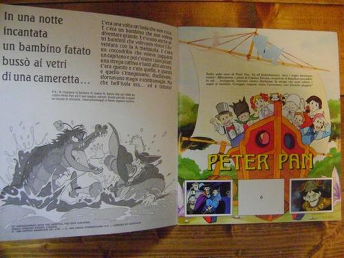 ALBUM PETER PAN edizioni PANINI INCOMPLETO ma MOLTO BUONO/OTTIMO Peter410