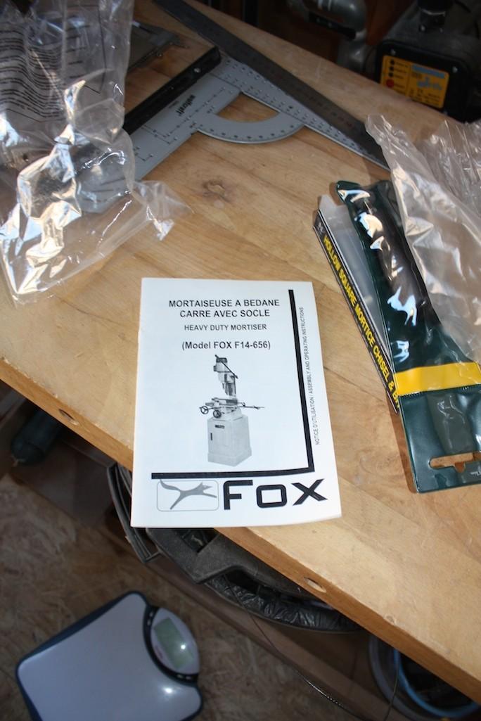 Mortaiseuse à bedane carrée Fox F14-656 Img_5012