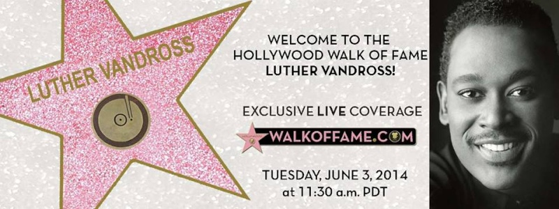 étoile pour Luther Vandross sur Walk of Fame à Hollywood Luther10