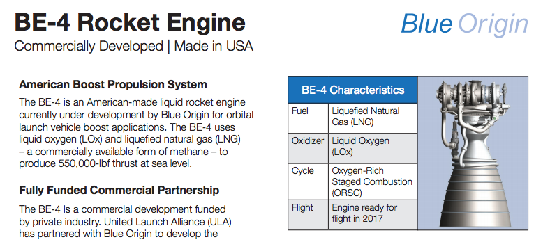 Alliance ULA / Blue Origin pour remplacer le RD-180 Screen10