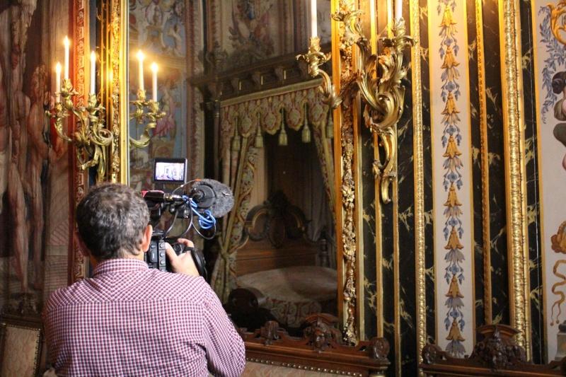 """Tournage de """"secret d'histoire"""" à Fontainebleau Fontai15"""