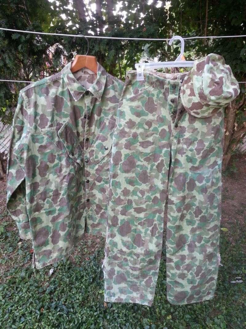 USMC or Army HBT WW2 Camo Original or Reproduction? P42110