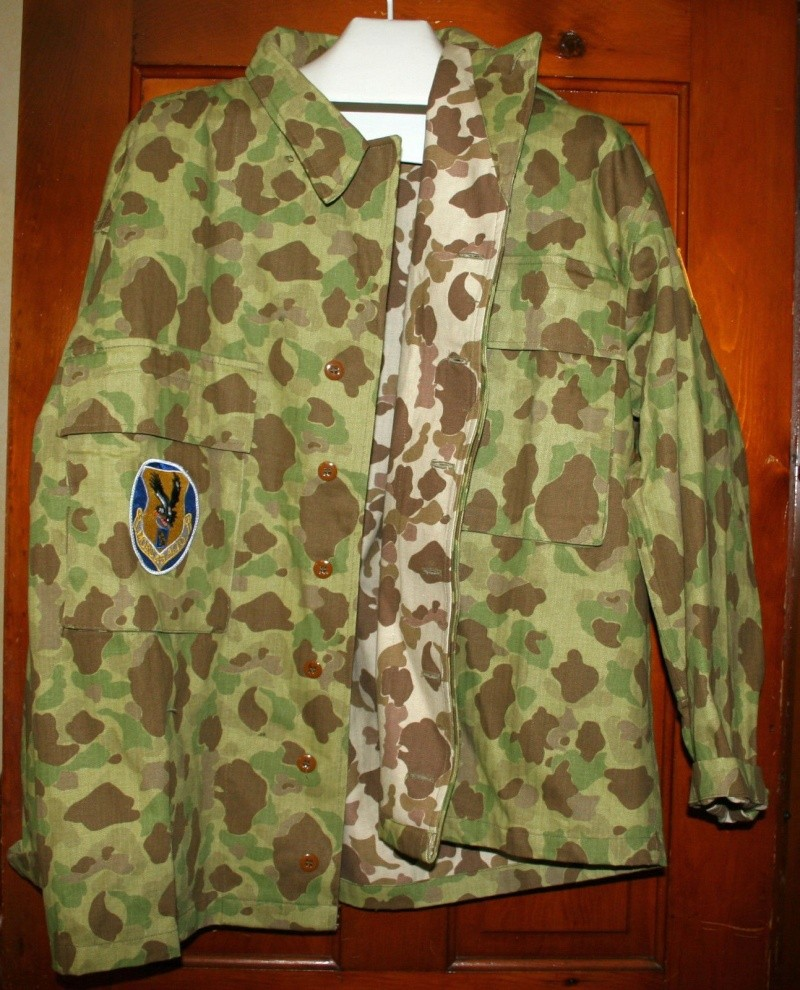 USMC or Army HBT WW2 Camo Original or Reproduction? P44110