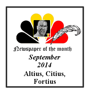 Newspaper of the Month/Year archive. Badge_12
