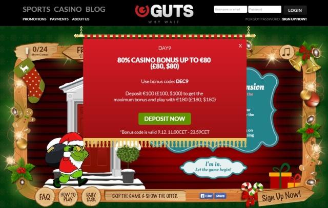 Guts Casino Christmas Calendar 9th December 2014 Guts_c15