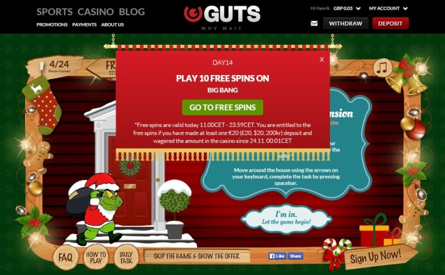 Guts Casino Christmas Calendar 14th December 2014 Guts_c19