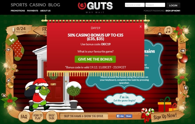 Guts Casino Christmas Calendar 19th December 2014 Guts_c24