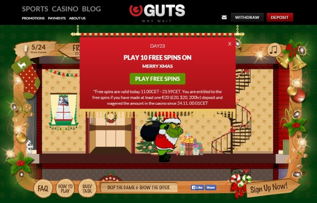 Guts Casino Christmas Calendar 23rd December 2014 Guts_c27