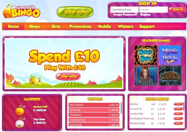 Smooth Bingo £15 No-Deposit Bonus - No Deposit Required Exclusive Smooth11
