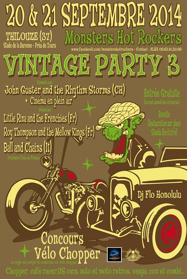 3ème Vintage Party à Thilouze (37), 20 et 21 septembre 2014 Monste10
