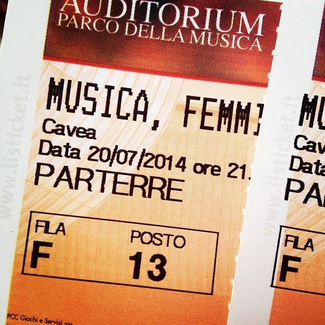 7/20/14 – Rome, Italy, Cavea Auditorium 7-20-110