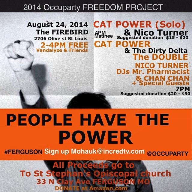 "8/24/14 - St. Louis, MO, The Firebird Club, ''Ferguson Protestors Benefit"" 8-24-111"