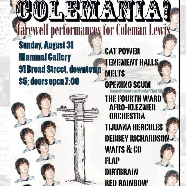 """8/31/14 - Atlanta, GA, Mammal Gallery, ''Coleman Lewis Tribute Concert"""" 8-31-111"""
