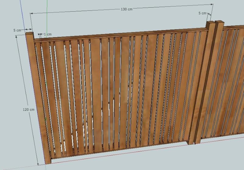 projet portail battant en bois. Black Bedroom Furniture Sets. Home Design Ideas