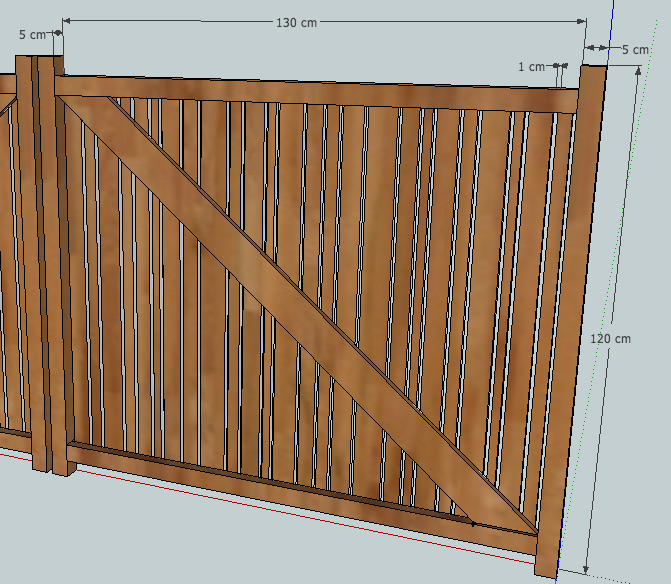 [Projet] Portail battant en bois Captur11