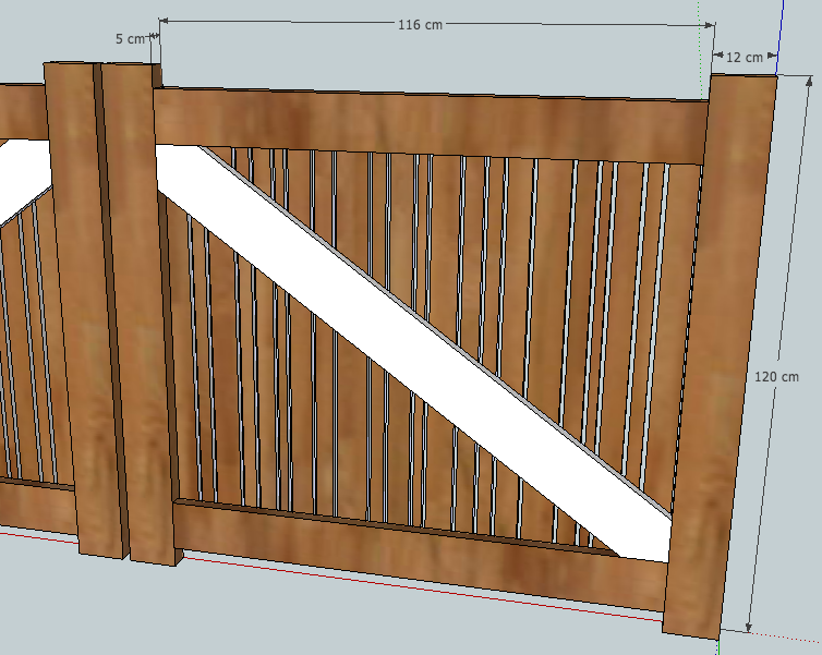[Projet] Portail battant en bois Derria10