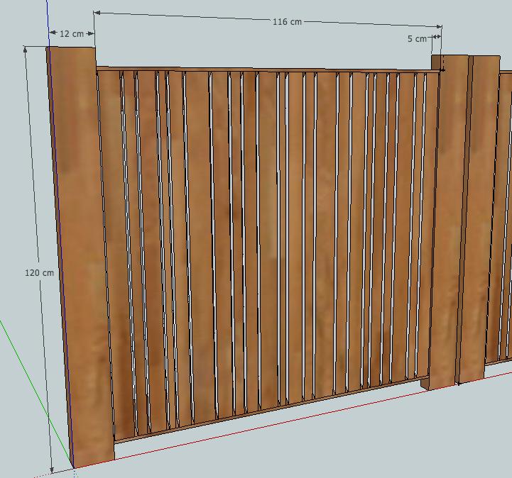 [Projet] Portail battant en bois Devant10
