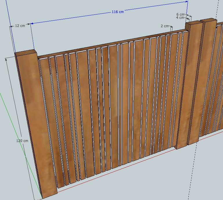 [Projet] Portail battant en bois Devant11