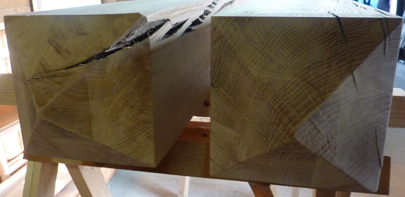[Projet] Pose et traitement de poteaux en bois pour portail en bois Poteau13