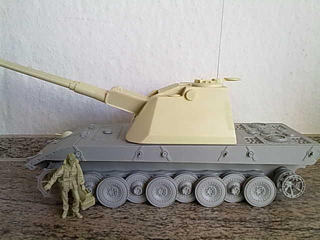 7,5cm Doppelflakturm auf E100 Ausf.A 03062012