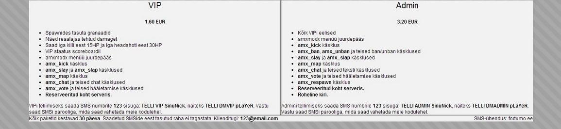 SMS teenuste kujundused D110