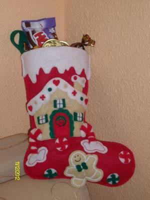 Bota de Navidad de galletas y caramelos de fieltro (con moldes) Image015