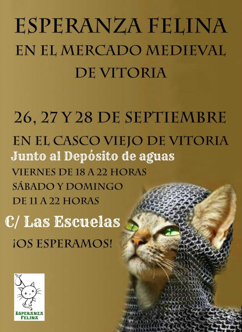Esperanza Felina en el Mercado Medieval de Vitoria. 26, 27 y  28 de Sepetiembre 2014 Cartel12