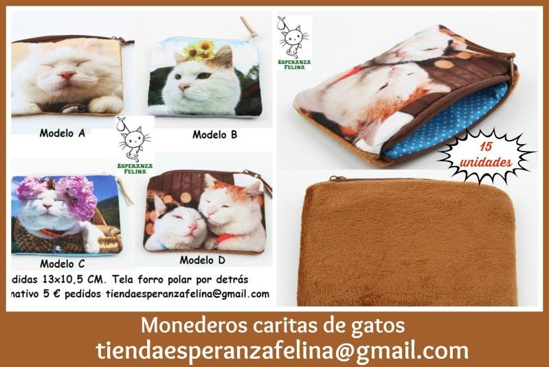 Monederos caras de gato Picmon57