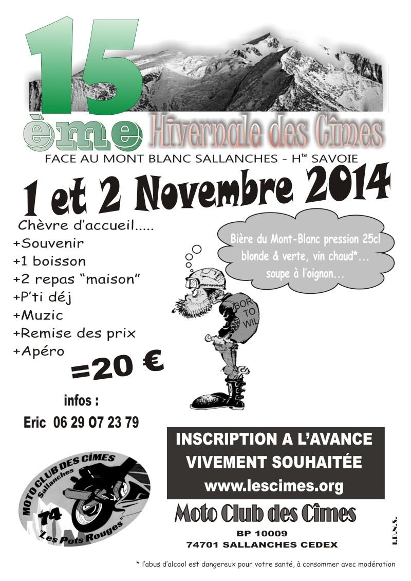 15ème hivernale des Cîmes 01&02 Novembre 2014 Affich10