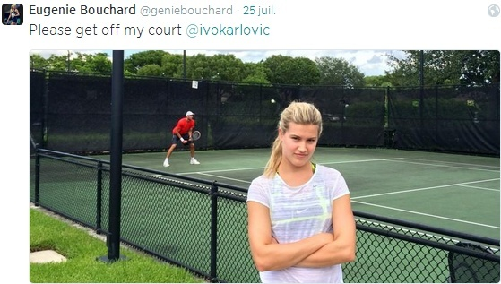 EUGENIE BOUCHARD (Canadienne) - Page 2 Tweet210