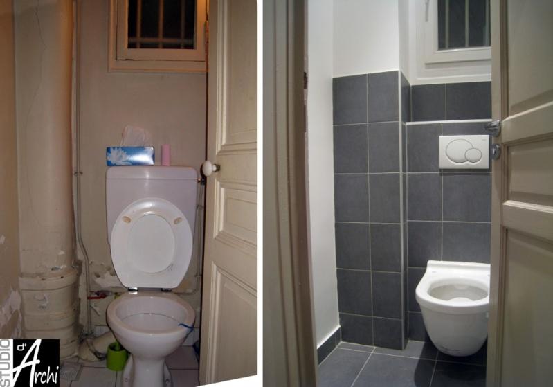 peinture des toilettes Appart10