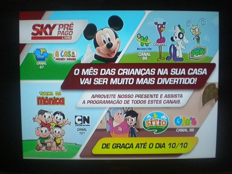 Sinal aberto dos canais infantis: Disney, Gloob, Discovery Kids e Cartoon Network Cimg0910