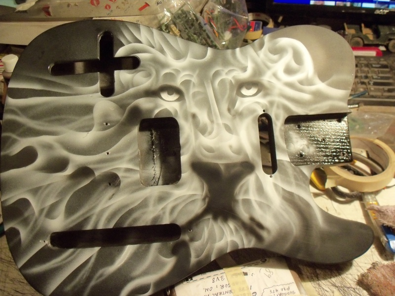 Airbrushing a Guitar 100_0727