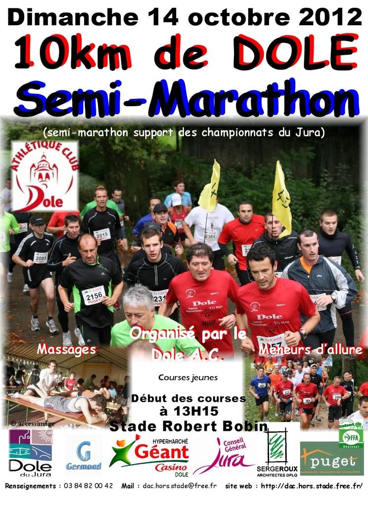 marathon - 14 octobre 2012 : 10 km et Semi Marathon de Dole  Affich10