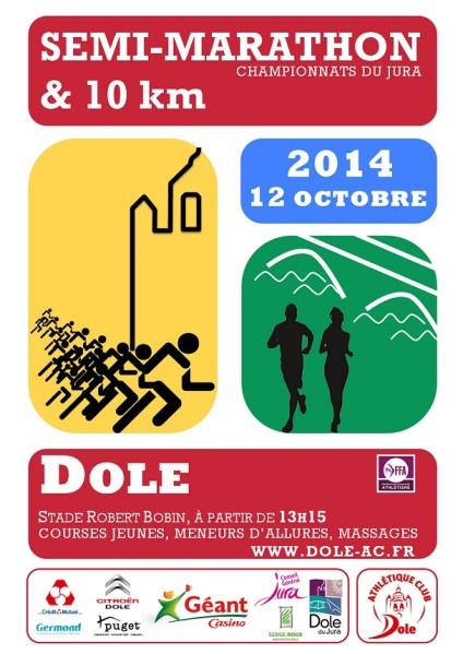 marathon - 10 km et Semi-Marathon de Dole (le 12/10/14) Affich11