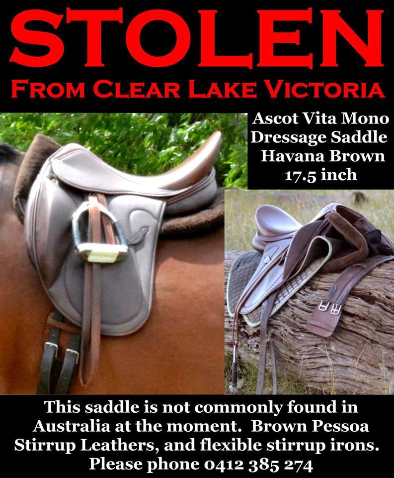 STOLEN - Ascot Vita Mono Dressage Saddle 10301510