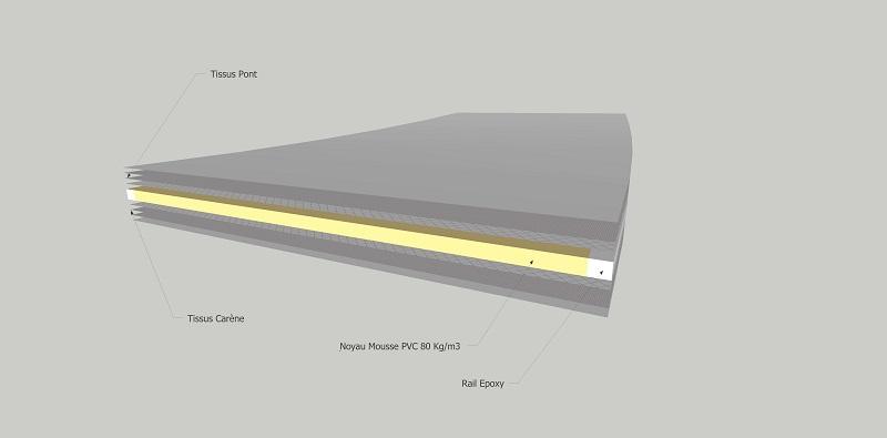 Le bois dans la construction des planches de kite Noyau_12