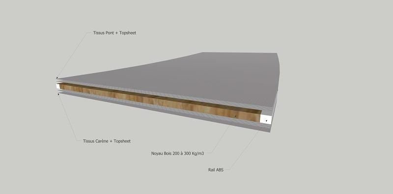 Le bois dans la construction des planches de kite Noyau_13
