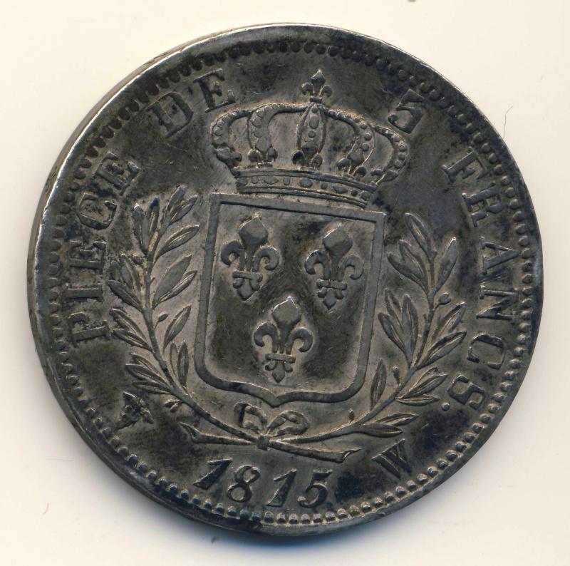 Ecu de cinq francs 1815 W Scan2010