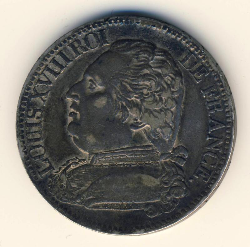 Ecu de cinq francs 1815 W Scan2011