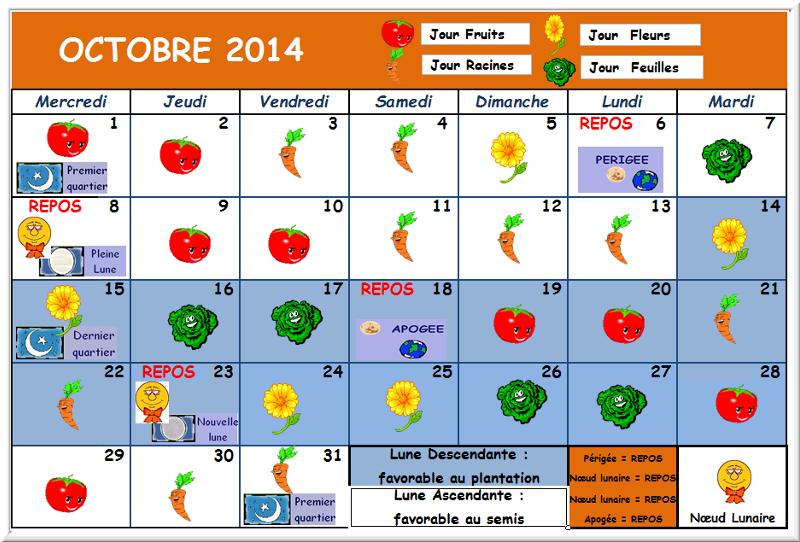 JARDINER avec la LUNE  2014 (Calendrier Lunaire) Calend14
