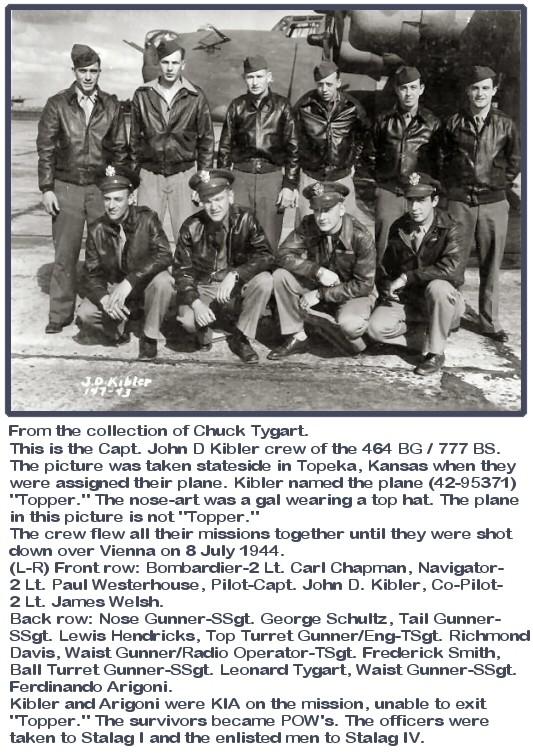Lewis R Hendricks - 464th bomb group - POW Kibler11