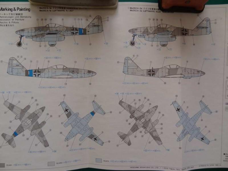 Me 262A hasegawa 1/72 000_me25