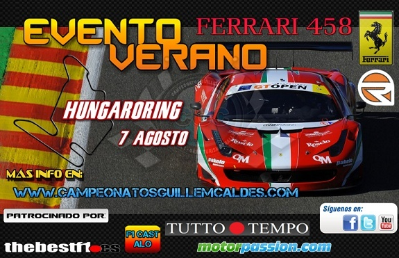 Evento Ferrari 458 GT OPEN Hungaroring Ewe10